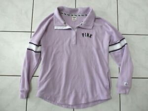 Victoria Secret Pink Sweatshirt Oversized Purple Womens Medium C695