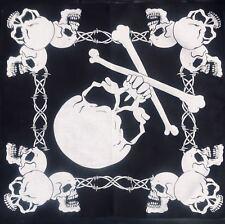 Skull & Crossbones Bandana 100% Cotton Head band Scarf Dog Neck Tie Feeanddave