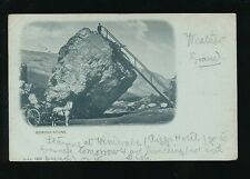 Cumbria BOWDER STONE 1901 u/b PPC QV stamp B&D #1490