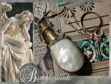 Antique Mop Flask Vinaigrette Chatelaine Chain Ring ~ Estate Jewelry Buy-out