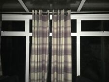 Dunelm Polyester Checked Curtains & Pelmets