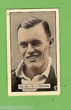 1934 - 1935 ALLEN'S CRICKET CARDS #20  H. C. NITSCHKE