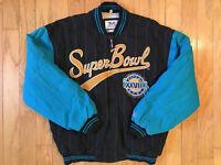 RARE VINTAGE SUPERBOWL XXVIII 1990's FOOTBALL NFL JACKET MIRAGE MEN'S SIZE LARGE