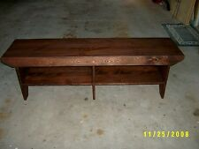"""60"""" wooden bench with extra leg in the middle"""