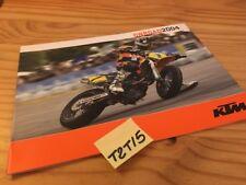 KTM onroad 2004 640 LC4 supermoto 660 SMC 640 Duke catalogue moto prospectus