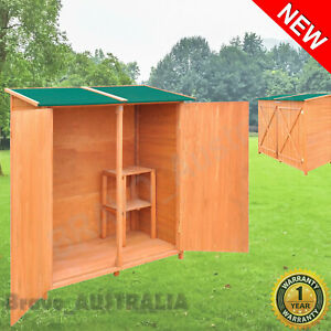 Outdoor Storage Cupboard Cabinet Wooden Storage Shed Garden Tool Shed