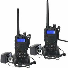 RT5 High Power 2 Way Radio 2 Band Long Range Walkie Talkies Rechargeable 2 packs