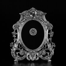 "P1892 Oval Cherub 7.75"" X 9"" Picture Frame by Elias Artmetal - New"