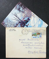 US Airmail Cover Los Angeles Thailand Olympics Stamp 31c USA Lupo Letter (H-7612