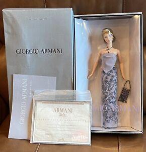 Giorgio Armani 2003 Limited Edition Barbie Doll NRFB With COA