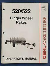 Gehl Finger Wheel Rakes 520522 Operators Manual 909875 B