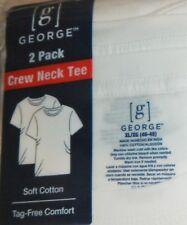 George White Crew Neck T-Shirts XLARGE 2-Pack QTY 10 T-Shirts