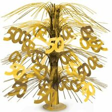 Gold 50 Cascade Centerpiece 50th Gold Anniversary Party Supplies Decoration