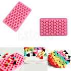 Silicone 55 Heart Cake Chocolate Cookies Ice Cube Soap Mold Tray Baking Mould