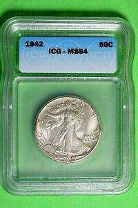 1942 ICG MS64 Walking Liberty Half Dollar #B27551