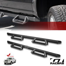 For 2005-2019 Tacoma Double Cab Matte Blk Aluminum Hoop Drop Step Side Nerf Bars