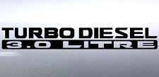 2x Turbo diesel 3.0 litre 500x65mm patrol 4x4 Vinyl Car Sticker Australian made
