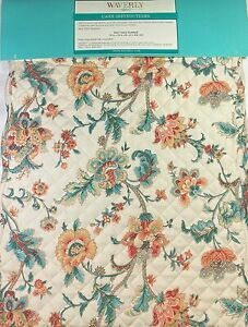 """Waverly Home Quilted Floral Table Runner 13"""" x 72"""" 100% Polyester Multi /Cream"""