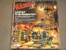 1986 Coleco Rambo S.A.V.A.G.E. Strike Headquarters Sealed Contents With Box