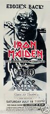 IRON MAIDEN / DIO / WASP 1998 SAN DIEGO CONCERT TOUR POSTER - Heavy Metal Music