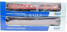 DAPOL 'OO' GAUGE PAIR OF ASSORTED LMS MAROON STANIER PASSENGER COACHES (FF2)