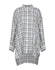 ISABEL MARANT checkered oversized white/gray cupro shirt  2019 $1240