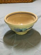 SWEDISH SIGNED DECORATIVE POTTERY BOWL PAINTED DESIGN CEREAL SOUP