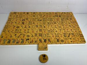 Vintage MahJong Set 162 Tiles w counter mah jong