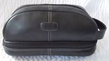 Fossil Black Leather Unisex Toiletry Cosmetic Travel Case