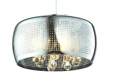 MODERN CONTEMPORARY STYLISH PENDANT CHANDELIER LIGHT WITH TEAR DROPS - 39CM