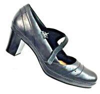 Clarks Artisan Women's Black Leather Heels Active Air Soles Shoes Size 9.5M