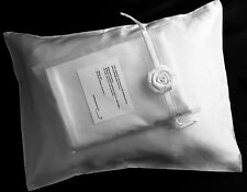 100% silk pillowcase travel 12x16 baby pillow case silver gray Feeling Pampered