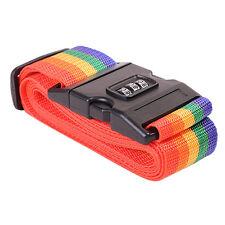 Luggage Suitcase Secure Belt Strap Coded Lock Safe Nylon Packing Belt HG10