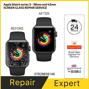Apple Watch Series 3 38,42mm Cracked Screen LCD Glass Repair Service