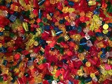 100 Teile LEGO Glassteine Kleinteile Set transparent 1x1 durchsichtig rund eckig