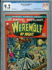 1972 MARVEL SPOTLIGHT #4 WEREWOLF BY NIGHT 1ST APP BUCK COWAN CGC 9.2 OW-W BOX1