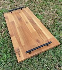 Grazing Board / Cheese Serving Board, Decorative Platter with Handles