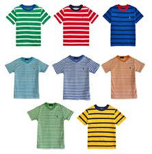 GENUINE Polo Ralph Lauren Kids Cotton Striped T Shirt 'Small Pony'  Age 2-16