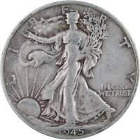 1945 S Liberty Walking Half Dollar VF Very Fine 90% Silver 50c US Coin