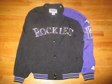 Vintage Starter COLORADO ROCKIES Embroidered Snap Button Down (LG) Jacket