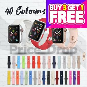 For Apple Watch Strap Band iWatch Series 6 SE 5 4 3 38/40/42/44mm SILICONE Sport