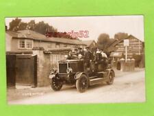More details for shrewton salisbury fire brigade engine 1913 rp pc used marett ref d188