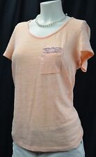 BKE THE BUCKLE Destroyed shabby knit TOP Blouse chic distressed t tee SZ S NEW