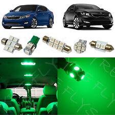 9x Green LED lights interior package kit for 2011-2016 Kia Optima KO1G