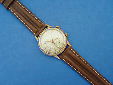 *SERVICED* MEN HELBROS 1960's**ALARM** YELLOW GOLD FILLED & STAINLESS STEEL BACK