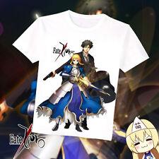 Anime Summer Fate zero Saber Emiya Kiritsugu T-shirt Short Sleeve Tee XS-4XL New