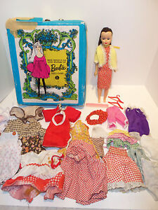 Vintage 1968 World of Barbie Doll Case w Doll and Huge Lot of Clothes