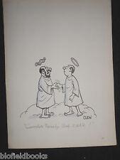 "CLIFFORD C LEWIS ""CLEW"" Original Pen & Ink Cartoon - RNVR Angel, Royal Navy #318"