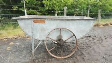 J Wallace and Sons Ltd  iron wheeled agricultural barrow
