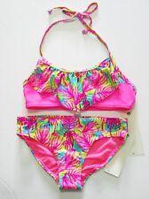 Roxy Girls Paradise Beach Bandana Bikini Set Knockout Pink Sz 2 - NWT